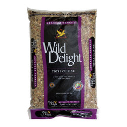 Wild Delight - Total Cuisine 20 lbs + Freight - A premium wild bird food blended to attract and feed the most desirable outdoor pets. Songbirds, Cardinals, Jays, Titmice, Grosbeaks, Nuthatches, Chickadees, Finches, Buntings, Thrushes and other outdoor pets will eat the Total Cuisine seed. Features: Zer