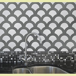 Scallop Allover Stencil - Add a bit of scalloped flair anywhere in your home with Cutting Edge Stencils' scallop guide.