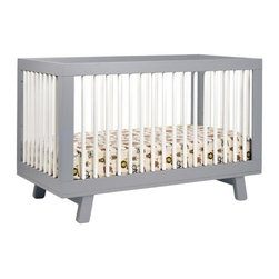 Babyletto - Babyletto | Hudson 3-In-1 Convertible Crib - Delightfully simple charm and mid-century design, create the appealing style of the Hudson 3-In-1 Crib. Each side offers an easy view of the baby through the spindle-style slats. Four adjustable mattress heights keeps baby safe when transitioning from an infant to a toddler. Once the toddler years arrive, there's no need to replace the Hudson Crib because it easily converts into a toddler bed or daybed. Create a modern oasis for the newborns with the Hudson 3-In-1 Convertible Crib With Toddler Rail. Product Features:
