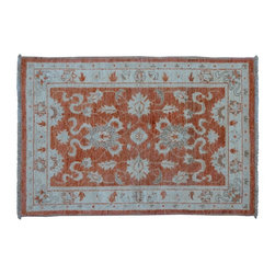 1800-Get-A-Rug - Sultanabad Oriental Rug Stone Wash Hand Knotted Rug Sh9198 - About Oushak and Ziegler Mahal