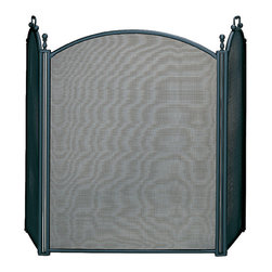UniFlame - 3 Fold Large Diameter Black Screen W/ Woven Mesh - Series:  Specialty Line