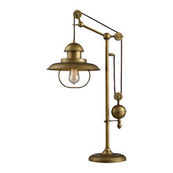 Dimond Lighting - Dimond Lighting D2252 Farmhouse Antique Brass Table Lamp - Dimond Lighting D2252 Farmhouse Antique Brass Table Lamp