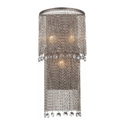 North Iron Chain and Crystal 3 Lights Chandelier 11566 -