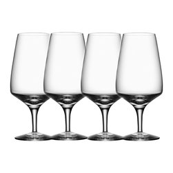 Orrefors - Pulse Beer Glasses Set of 4 - Pulse, designed by Ingegerd R'man for Orrefors, is a modern glass for a modern user. A glass which works just as well on the table as in the dishwasher. The glasses are sold in 4-packs and the series contains of a wine glass, a beer glass and a tumbler.