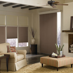 """Graber CrystalPleat Blackout Shades - American Blinds 9/16"""" X-Press Single Cell Room Darkening Cellular Shades offer a fast, low-cost option to decorate all the windows in your home, while also increasing your home's energy efficiency."""