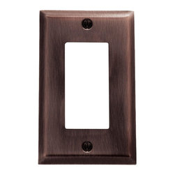 Baldwin Hardware - Beveled Edge 1 GFCI Wall Plate in Venetian Bronze (4754.112.CD) - Feel the difference as Baldwin hardware is solid throughout, with a 60 year legacy of superior style and quality. Baldwin is the choice for an elegant and secure presence. Baldwin guarantees the beauty of our finishes and the performance of our craftsmanship for as long as you own your home.