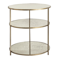 Percy Side Table, Brass