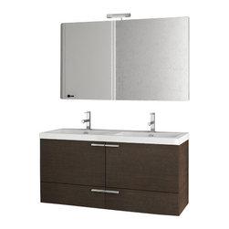 ACF - 47 Inch Wenge Bathroom Vanity Set - Set Includes: Vanity Cabinet (2 Doors,2 Drawers).
