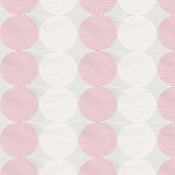 Wallpaper Worldwide - Hero - Circles Wallpaper, White, Pink - Material: Paper