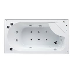 Ariel - Ariel Platinum DA328F3 L Steam Shower with Whirlpool Bathtub 59x32x87.4 - These fully loaded steam showers include a whirlpool bathtub, massage jets, chromotherapy, aromatherapy and built in FM Radio for Easy Listening s to help increase your therapeutic experience.