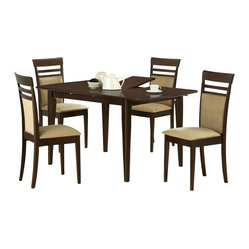 Monarch Specialties 5 Piece 60x36 Dining Room Set