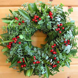 Holiday Eucalyptus Berry Wreath