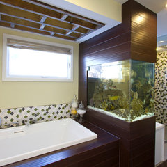 contemporary bathroom by Mercury Mosaics and Tile