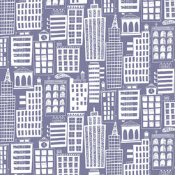 Loboloup - Cityscape, Violet-Gray, Roll - Love the big city but hate the noise? This may be your solution.