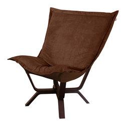 Howard Elliott - Howard Elliott Bella Chocolate Milan Puff Chair - Milan puff chair bella chocolate