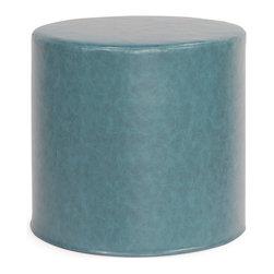Howard Elliott - Howard Elliott Bucktown Turquoise No Tip Cylinder Ottoman - Bucktown turquoise no tip cylinder ottoman