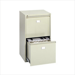 "Safco - Safco 2 Drawer Vertical Metal File Cabinet in Tropic Sand - Safco - Filing Cabinets - 5039 - This 2-drawer office vertical file cabinet is constructed of heavy-duty steel with each drawer capable of holding twenty-four 18"" Hanging Clamps (sold separately) or hanging file folders (see Model 5038). Clamps and folders may be combined in the same drawer. Key lock included for protection of confidential information. Ships assembled."