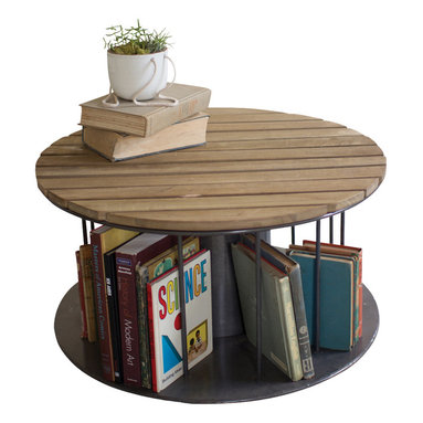 Round Play Table w/ Book Storage - We are always looking for items with one than one purpose and this play table surely fits the bill. Not only is it a useful play table, but it is a perfect place to store all of those books that never seem to have a home. Just perfect.
