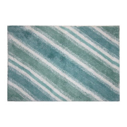 Bacova - Bacova La Mer Bath Rug - 11674 - Shop for Mats and Rugs from Hayneedle.com! Aquatic colors evoke the deep blue sea in the striped contemporary pattern of the Bacova La Mer Bath Rug. Made from 100% machine-washable cotton this high-quality rug features nautical tones of blue and green on white. It measures 20W by 30L inches.About Bacova The Bacova Guild has become one of the largest producers of printed accent rugs floor mats and bathroom ensembles offering more than 30 distinct product lines with around 3 000 unique items. Located in Covington Virginia Bacova is a wholly owned subsidiary of Ronile Incorporated. They continue to serve a diverse customer base by setting the standard with fresh and innovative fashions exhibited in their annual offerings of hundreds of new designs. With their reach stretching well beyond the borders of the United States Bacova has a worldly outlook to meet the needs of an ever-changing marketplace. In spite of their rapid growth over the last decade Bacova remains committed to a standard of style and quality that can't be matched.