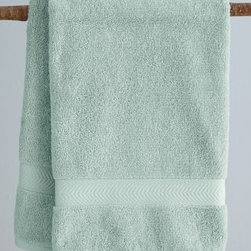 "Garnet Hill - Garnet Hill Charisma Classic 650-Bath Mat - Mint - With softness and a just-right weight, these ultra-absorbent 650-gram Egyptian cotton towels add spa-like luxury to your bath. A 1 1/2"" chevron dobby is finished with 1/2"" binding on top and bottom."