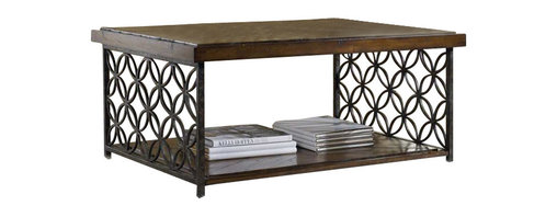 Hooker Furniture - Hooker Furniture Adagio Cocktail Table with Patterned Iron - Hooker Furniture - Coffee Tables - 509250001 - Grand scale classic design and soft flowing shapes are married with a rich dark finish to give birth to the stunning Adagio collection.