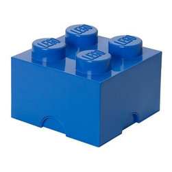 LEGO - LEGO MOVIE Storage Brick 4, Bright Blue - Tidy up with a symbolic object of your childhood with our LEGO Movie Storage Brick 4 in Bright Blue. The chaos will never again reign in your house (or in the childrens bedroom) with these playful and flexible arrangements. Capable of containing toys or anything that crosses your mind.. You can also assemble them as their smaller illustrious companions to form real buildings.