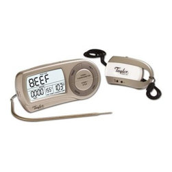Taylor - Connoisseur Probe Thermometer/Timer - Connoisseur Probe Thermometer/Timer with Wireless Remote - 2 pre-alert and completion signals