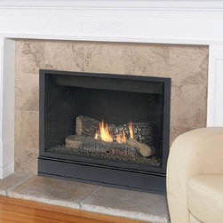 Majestic Tribute 36'' x 35'' Extra Rear Vent DV-NG Gas Fireplace 36CDVZRRN - Clean Face Design