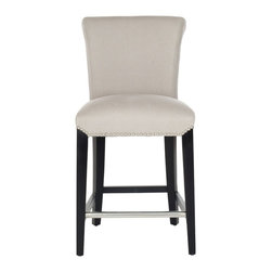 Safavieh - Safavieh Seth Bar Stool X-B0154RCM - The clean lines of the Seth Bar Stool make it just right for any home&#8212:traditional to contemporary. Featuring a solid birch wood frame with a deep brown finish, Seth offers comfortable seating at the just right height of 30 inches. The seat and back are up