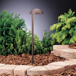 LANDSCAPE - LANDSCAPE 15423TZT Eclipse Side Mount Path Light - Popular dome cap design in a side-mounted fixture for more directional lighting.