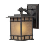 ELK - Elk Lighting 45011/1 Newlton Outdoor Wall Light - The Newlton Collection Projects Clean Styling And Historic Character That Is Carried Through The Design Elements Of The Frame, Arm And Back Plate. The Lantern Is Constructed Of Solid Cast Aluminum,