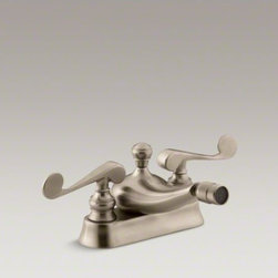 KOHLER - KOHLER Revival(R) centerset horizontal swivel spray spout bidet faucet with scro - The Revival collection's elliptical forms and rolled edges create a look that is classically romantic. This bidet faucet features unique scroll handles on a centerset design.