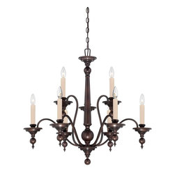 Savoy House Lighting - Savoy House Lighting Sutton Place Traditional Classic Chandelier X-31-9-7271-1 - Sutton Place has the look of traditional fixtures with a little modern flair. The English Bronze finish and classic design make this group flawless.
