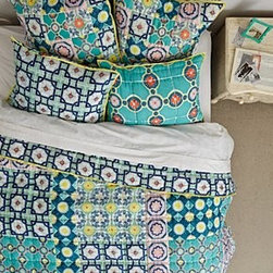 Anthropologie - Zigon Tilework Quilt - CottonDry cleanImported