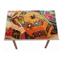 Colorful Umbrellas Table/Wall Art - It's a table; It's wall art. It's BOTH, and It's Made In the USA!