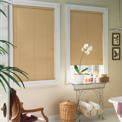 Bali - Bali LightBlocker 1-inch 8-Gauge Mini Blinds - LightBlocker aluminum mini blinds use special hardware to prevent light from leaking in below the headrail.  Heavy-duty 8 gauge slats place these blinds among the most durable on the market.