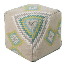 Pillow Talk Pouf - After a hard day of work, grab a comfy seat on this colorful but modern, patterned cushion. And if you get sleepy, settle down in the armchair and prop your feet on this pouf before you doze off.