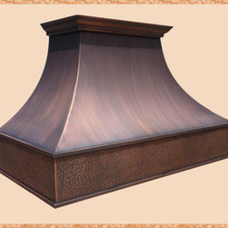 Copper Range Hoods - With a designer on staff, we can make the hood you want in any size you need.