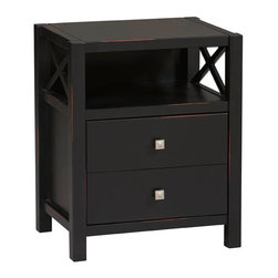 """Linon - Anna Collection End Table - Dimensions: 27"""" H x 22"""" W x 17"""" D"""