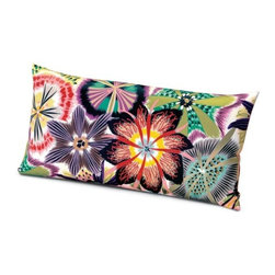 Missoni Home - Missoni Home | Passiflora Coral Pillow 12x24 - Design by Rosita Missoni.