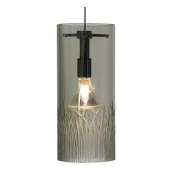LBL Lighting - LBL Lighting Mini-Springview Smoke Monopoint 1 Light Track Pendant - LBL Lighting Mini-Springview Smoke Monopoint 1 Light Track PendantInspired by nature, this trendy pendant showcases a Smoke glass cylinder finished with a hand-carved grass design. This stylish piece will add new beauty to any home or business and with the included 50 watt MR16 lamp, this pendant will provide ample light as well.Each Monopoint lighting fixture includes a single-point canopy with built-in transformer right out of the box for a quick and easy installation.LBL Lighting Mini-Springview Smoke Monopoint Features: