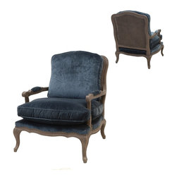 Four Hands - Boutique Accent Chair - Balancing dramatic scale with flea marketing-find design, the Irondale Collection offers comfortable seating in fresh lines and lush velvets.