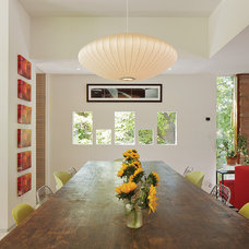Modern Dining Room by David Lauer Photography