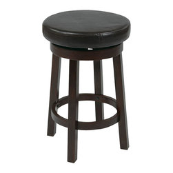 """Office Star - Office Star Metro Round Barstool in Espresso-30"""" Height Barstool - Office Star - Bar Stools - MET1930ES - Need a little something to complete your dining style/look? This simple, yet stylish, barstool will be great to add to your dining room or kitchen. Ready to assemble when received."""