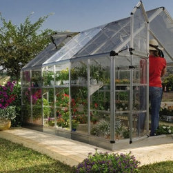 Palram Snap & Grow 6 x 4 ft. Extension Kit - Silver - Extend your Snap & Grow Greenhouse with the Palram Snap & Grow 6 x 4 ft. Extension Kit - Silver. Made with the same crystal-clear SnapGlas panels which are virtually unbreakable this extension kit is easy to add onto your existing greenhouse to give you even more space for growing your plants.