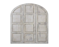 Uttermost - Grace Feyock Tribunali Ivory Wall Panel - These decorative, oversized wall panels feature a heavily distressed, aged ivory finish.