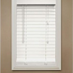 Home Decorators Collection Faux Wood Blinds. White Faux Wood Blind, 2 in. Slats,