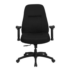 Flash Furniture - Flash Furniture Hercules Series Office Chair in Black - Flash Furniture - Office Chairs - WL726MGBKAGG - This chair has been tested to hold up to 400 lbs.! Not only will this chair hold the above average person but it is amazingly comfortable. Chair will appeal for users of all heights and weights because of its comfort and sturdy construction. [WL-726MG-BK-A-GG]