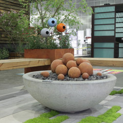 2014 Dwell on Design, Potted Firepit - Orly Olivier for FormLA Landscaping