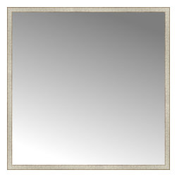 """Posters 2 Prints, LLC - 64"""" x 64"""" Libretto Antique Silver Custom Framed Mirror - 64"""" x 64"""" Custom Framed Mirror made by Posters 2 Prints. Standard glass with unrivaled selection of crafted mirror frames.  Protected with category II safety backing to keep glass fragments together should the mirror be accidentally broken.  Safe arrival guaranteed.  Made in the United States of America"""